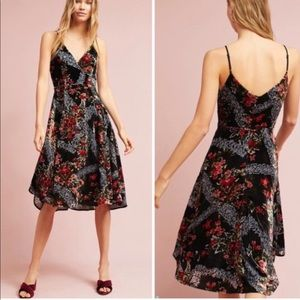 Anthropologie Eri + Ali floral burnout slip dress
